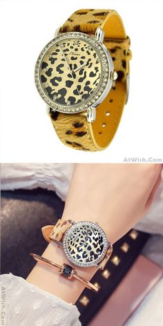 Cheap Unique Cool Leopard Print Watch For Big Sale! Simple Watches, Cute Watches, Retro Watches, Sport Watches, Vintage Watches, Women's Watches, Latest Women Watches, Art Watch, Fashion Watches