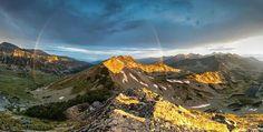 Rainbow over the Pirin mountain, Bulgaria
