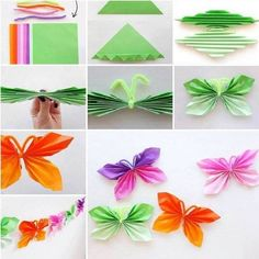 Paper and pipe cleaner butterflies