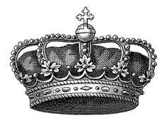 Vintage Clip Art - Another Fabulous Crown - The Graphics Fairy