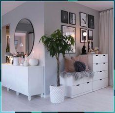 Interior Design Living Room, Living Room Designs, Living Room Decor, Bedroom Decor, Bedroom Furniture, Bedroom Plants, Ikea Bedroom, Bedroom Dressers, Master Bedroom