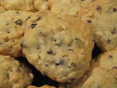 BLUEBERRY CHOCOLATE CHIP OATMEAL COOKIES ~ I set out to make Cherry Chocolate Chip cookies but discovered a cache of dried blueberries in my pantry–temptation. Yes, I bypassed the dried cherries, which turned out to be a good move. Another good move was cutting back on the flour so I could toss in a bit of oatmeal (love oatmeal cookies). The result: one of those rare cookies that tastes terrific hot, warm, or cold. To wit, had I not foreseen their popularity and stashed half in the fridge…