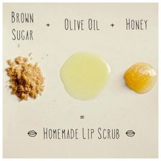 Mix brown sugar, olive oil and honey to create a nourishing DIY lip scrub. 20 Life Hacks for Your Beauty Routine - Daily Makeover