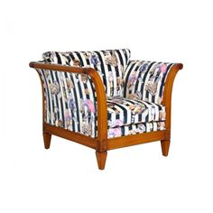 Hackney Empire Licorice Stripe Velvet Chair - Furniture