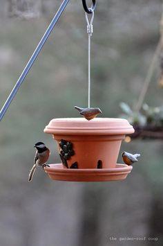 How to Make a Flowerpot Bird-Feeder | Home Design, Garden & Architecture Blog Magazine