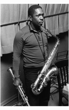 John Coltrane, New York City 1965. (photo by Lee Friedlander)