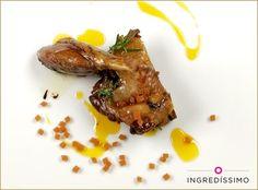 Para los que prefieren la carne, un alucinante confit de pato a la naranja… con Naranja Gummy, cómo no :) #Ingredissimo #Receta