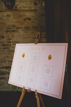 Table plan easel