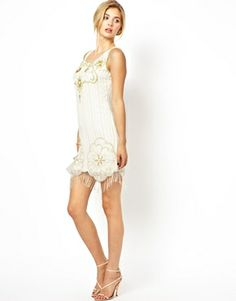 Image 4 ofFrock and Frill Embellished Shift Dress with Tassel Detail