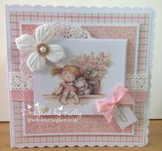 Handmade cards by Kelly Lloyd 3d Cards, Cool Cards, Hunkydory Crafts, Shabby Chic Cards, Kids Birthday Cards, Card Making Tutorials, Pretty Cards, Copics, Baby Cards