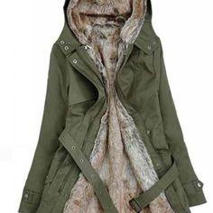 Beige Parka With Faux Fur I..
