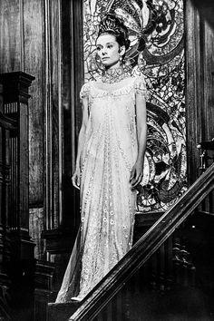 audrey hepburn my fair lady white dress