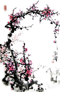 Chinese Plum Blossom x x Painting. Buy it online from InkDance Chinese Painting Gallery, based in China, and save Japanese Painting, Chinese Painting, Chinese Art, Painting Gallery, Plum, Eye Candy