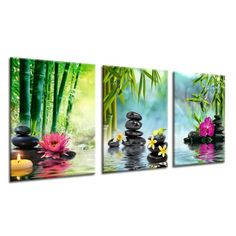 canvas prints zen spa stones for relaxtion