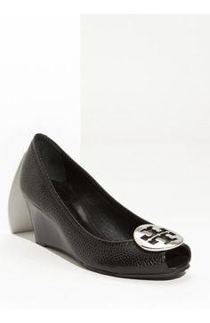 Tory Burch 'Sally 2' Peep Toe Wedge Pump (Women) available at #Nordstrom