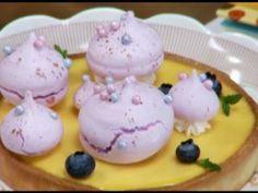 Tarta de fruta de la pasión con merengue crujiente