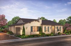 Citron at The Grove in Camarillo, CA by Shea Homes | Residence 2D Exterior Rendering   #sheahomes #sheahomessocal #livethedifference #liveethesheadifference #CitronAtTheGrove #Camarillo #newhomes #venturanewhomes #venturacounty #realestate Sales: Shea Homes Marketing Company (CalDRE #01378646), Construction: SHSC GC, Inc. (CSLB #1012096). Equal Housing Opportunity.