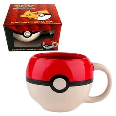 Pokemon Pokeball Molded Mug - Just Funky - Pokemon - Mugs at Entertainment Earth