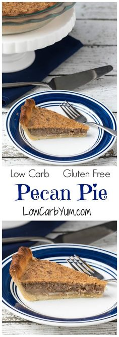 A delicious low carb pecan pie is possible if you use the right sweetener. So good, you'll want to enjoy this traditional holiday pie throughout the year. LCHF Keto Gluten Free Recipe. #lowcarbpecanpie #lowcarbrecipe #lowcarbpie