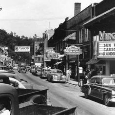 An old photograph of Hazard, KY