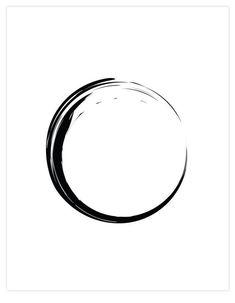 Zen Circle - Home Warei Deas Zen Symbol, Tattoo Fineline, Minimalist Artwork, Circle Tattoos, Circle Of Life, Circle Circle, Circle Design, Tattoo Designs, Design Tattoos