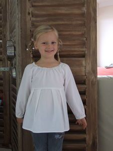 Tutorial of the white tunic with raglan sleeves