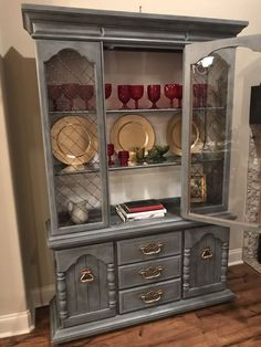 Vintage China Cabinet with Lighting (Home & Garden) in Broussard, LA - OfferUp