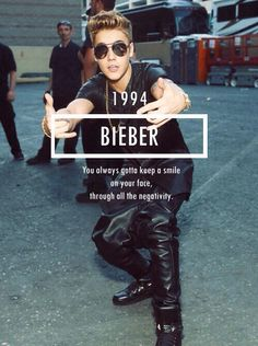 Justin Bieber- smile even though my heart is frowning