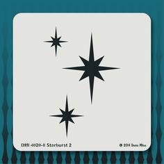 4020-8 Starburst 2 stencil from the Mid-Century Modern stencil collection