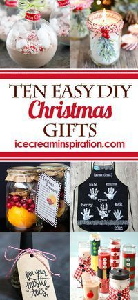 10 Easy DIY Christmas Gifts that you can make quickly and inexpensively! Cute Christmas Gifts, Cheap Christmas Gifts