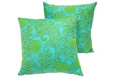 Vera Batik Pillows, Pair