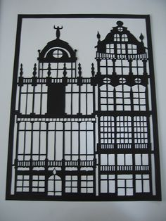 Baroque houses papercutting | Flickr - Photo Sharing!