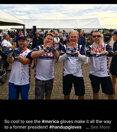 #SUPPORTLOCALBIKESHOPS  Dealers contact #TorcanoIndustries Way to go @handupgloves Go #merica #REPOST via FB #HANDUPGLOVES So cool to see the #merica gloves make it all the way to a former president! #USA #rockthevote #redwhiteandblue #election #starsandbars #homeofthefreebecauseofthebrave #Hello #rad #america #mtbrace #mountainbike #bmx #bmxfamily #bikelove #pedal #bmxlife #bmx4life #bikefam #fixie #mtb #cyclocross #roadcycling #mtnbiking