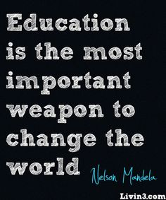 Education Lesson Mandela Poster Quote