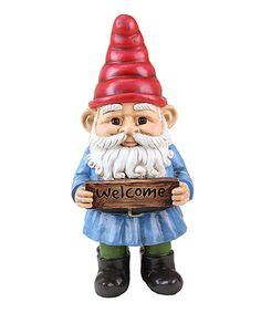 Look at this 'Welcome' Two-Sided Garden Gnome on #zulily today!