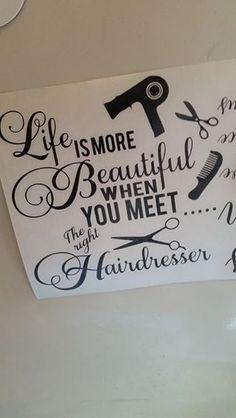 Black vinyl hairdresser quote for glass light block