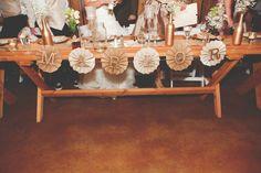 Rustic wedding head table sincerelyarizona
