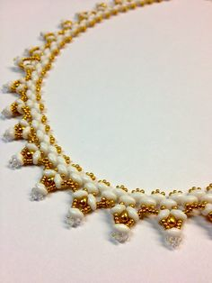 patterns with super duo and tila beads for necklace | Valentine Day Mardi Gras and Something White
