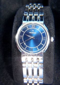 Movado Watch 84-A1-842 Womens Blue Face Swiss Made Sapphire Crystal Silver Tone #Movado #LuxuryDressStyles