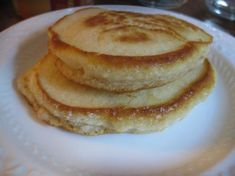 Dairy-less/ Egg-less pancakes. Replace margarine with 2 1/4 tablespoons of vegetable oil, make sure salt is non iodized and just use the egg white and its perfect for a Low Iodine Diet. My wife had to live the LID (because of thyroid cancer) and so I found this for her!