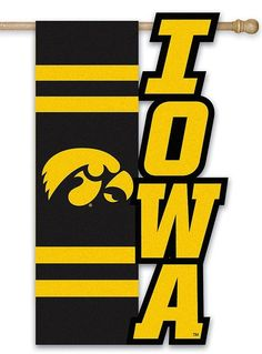 Iowa Hawkeyes House Flag Sculpted 2 Sided - Heartland Flags