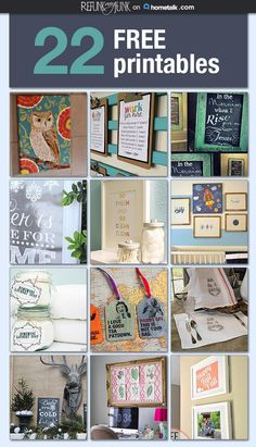 22 fabulous and free printables