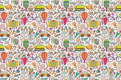 Enjoy life cards, travel pattern by Markovka on Creative Market