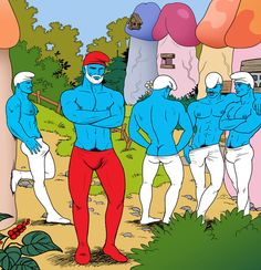 Tom of Finland Tumblr Redesign Challenge Inspires Gay Smurf Penis Village Artwork - May 1, 2014 - The Gaily Grind