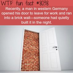 Man in Germany walks into a brick wall… - WTF fun fact