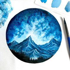 Watercolor Galaxy Painting, FINE ART PRINT