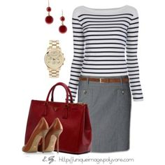 Work Attire - Polyvore minus the shoes, of course.  can't be on my feet all day in those!!