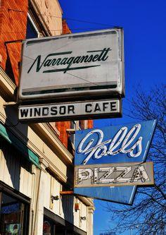 Narragansett sign @ Windsor Cafe