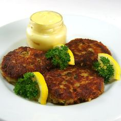 Fresh Cod and Potato Cakes with Tarragon Sauce