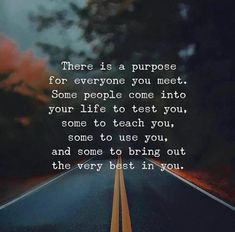 There is a purpose for everyone you meet..